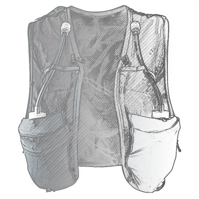 Traditional Vest Shape Illustration