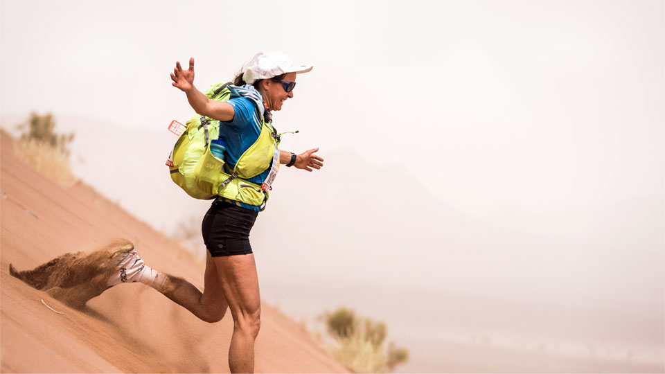 Magda competing in the 2018 Marathon des Sables