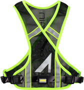Lumen Clip 180 attached to Neon High Visibility Vest